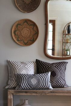 .pillows and wall