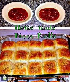 Homemade Pizza Rolls. Easy to make and flexible fillings so you can use the recipe or invent your own!