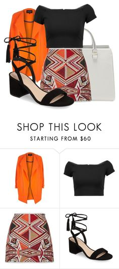 """Bright colours for autumn!"" by saraahtakuubaybee ❤ liked on Polyvore featuring River Island, Alice + Olivia, Topshop and BP."