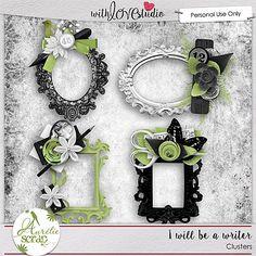 Scraps by Jessica art-design: I will be a writer by Aurelie Scrap