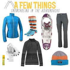 Love this outfit! Now all I need is some cold weather! ''Some perfect gear for snowshoeing in the Adirondacks. Ootd Winter, Winter Wear, Snow Activities, Outdoor Activities, Used Camping Gear, Winter Hiking, Winter Camping, Snow Gear, Snow Outfit