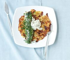 Herbed Matjes with Apple-Potato Roesti