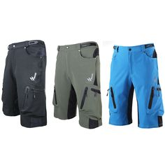 New Arsuxeo Cycling Shorts Outdoor Sports MTB Road Bike Bike Bicycle pocket clothes Quick-dry Men's EU ZB83