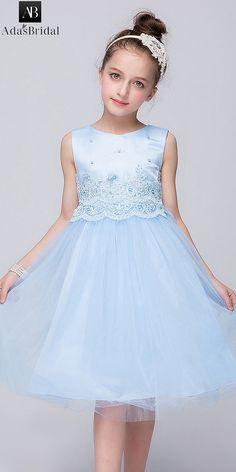 Angelic Tulle & Taffeta Jewel Neckline A-line Flower Girl Dresses With Belt