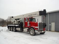 A 50 Ton National crane mounted on a 2013 Peterbilt.  This boom truck has under 10,000 miles and under 1,334 engine hours!  The winch has a remote control.  The crane has only 904 hours!  This great looking and great working unit will not last long!  Auxiliary winch and jib extension available upon order request for an additional price! SR#3732  http://www.sunriseequipment.com/nbt-50-national-crane-mounted-on-a-2013-peterbilt