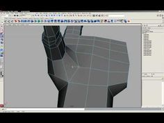 Simply Maya Tutorial Low Poly Hand - Part 4 of 8