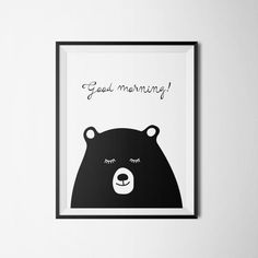 Good morning by ogift on Etsy! #poster #kids #babies #room #bedroom #sleep