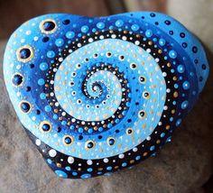 Meditation-Stein Mandala-Stein einzigartige Stein