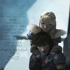 I love how Hiccup and Astrid are always there for each other. They're such a perfect couple. How To Train Dragon, How To Train Your, Httyd 2, Hiccup And Astrid, Dragon Rider, Night Fury, The Big Four, Toothless, Disney And Dreamworks