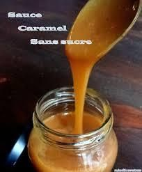 Caramel fait maison sans sucre pour nappage