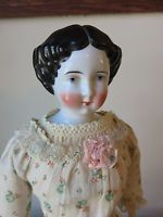 Antique German China Head Doll Civil War 15 Inches Tall