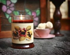 Large Pansy Three Candle Wrap #2  www.thisilldocreations.com