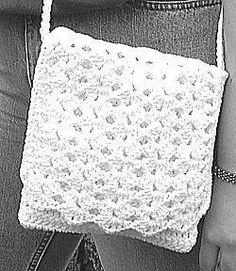 Crochet Shell Stitch Handbag free pattern.