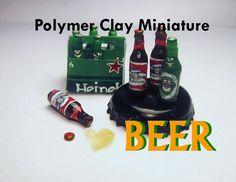 Easy Polymer Clay Dollhouse Miniature Beer (Budweiser and Heineken)
