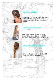 Designer Clothes, Shoes & Bags for Women Easy Messy Bun, Half Up Half Down, Lazy Girl, Bun Hairstyles, Braids, Long Hair Styles, Face, Polyvore, Top