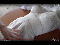 How To Sew Your Own DIY Custom Fit Dress Form From Scratch / Homemade Fully Pinable Mannequin - YouTube