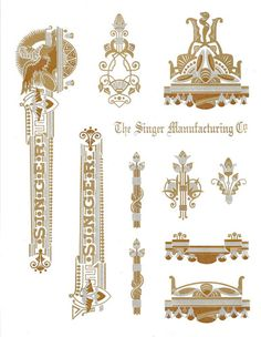Decals for Singer 27 127 Class Sphinx Style Restoration - Waterslide Transfer - Multi Color Sewing Machines Best, Treadle Sewing Machines, Antique Sewing Machines, Sewing Machine Repair, Sewing Leather, Gold Ink, Sewing Studio, Sewing Accessories, Vintage Accessories