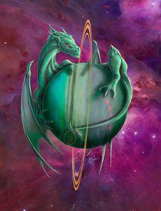 Uranus dragon - Artist Rob Carlos on Fine art america