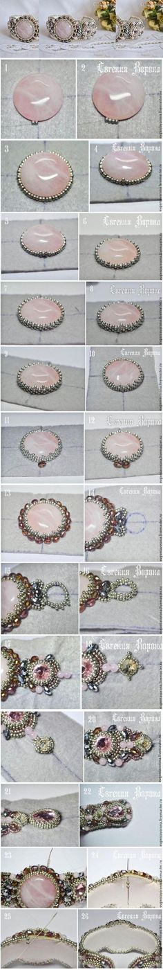 Beautiful beaded bracelet tutorial / Мастер-класс: нежный браслет вышитый бисером