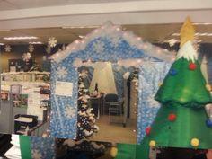 Office Christmas decor: winter wonderland