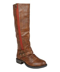 d71ee188f8 Journee Collection Brown Lady Wide-Calf Boot