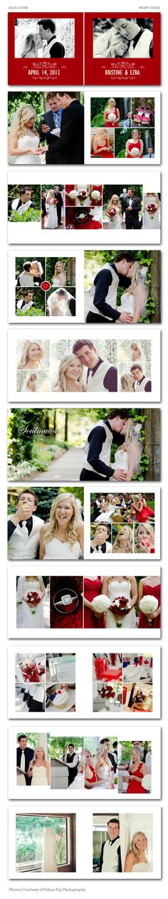 Spring Knot Wedding Photo Album Template Wedding Photo Books, Wedding Photo Albums, Wedding Book, Wedding Photos, Wedding Album Layout, Wedding Album Design, My Photo Book, Wedding Scrapbook, Book Layout