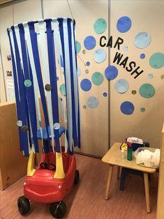 Car Wash dramatic play idea for preschool