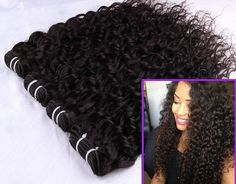 Brazilian curly hair so beautiful no shedding no tangling best quality human hair weft Peruvian Curly Hair, Malaysian Curly Hair, Brazilian Curly Hair, Brazilian Hair Bundles, Curly Weave Hairstyles, Curly Hair Styles, Loose Waves Hair, Wave Hair, Hair Weft