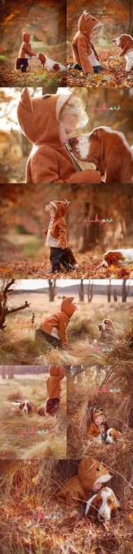 The fox and the hound.. This makes me want a little boy then buy a hound dog just to take these pictures so cute