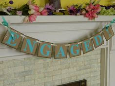 ENGAGED Banner Photo Prop Customize in Your by anyoccasionbanners, $17.00