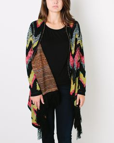 Watercolor Aztec Cardi Sweater