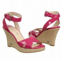 SALE - Michael Kors Kami Ankel Strap Wedge Heels Womens Pink Leather - Was $110.00 - SAVE $6.00. BUY Now - ONLY $104.50.