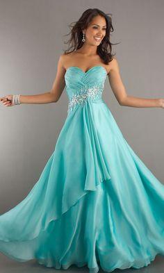 Aqua Blue Prom Dress