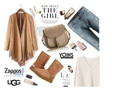 """""""Yoins 102 -The Icon Perfected: UGG Classic II Contest Entry"""" by nataskaz ❤ liked on Polyvore featuring Kershaw, MANGO, UGG Australia, Chloé, Yves Saint Laurent, Herbivore, Nude by Nature, ugg, contestentry and yoins"""