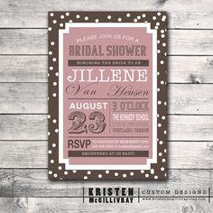 polka dot bridal shower invitation #DIY #printable