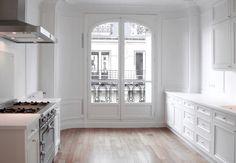 The perfect Parisian white kitchen