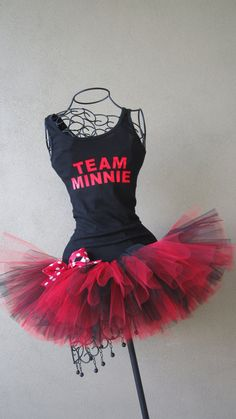 Runners Love Tutus Minnie Mouse Themed Racing by LuckyNumberTutu, $45.00