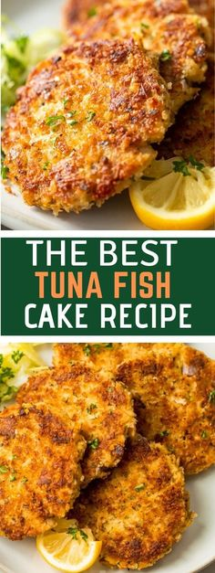 Tuna Fish Recipes, Tuna Fish Cakes, Fish Cakes Recipe, Best Seafood Recipes, Vegan Recipes Easy, Salmon Recipes, Easy Dinner Recipes, Appetizer Recipes, Seafood Appetizers