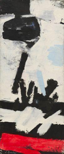 James Brooks (1906-1992) was een Amerikaanse muralist , abstract schilder. Brooks was een vriend van Jackson Pollock en Lee Krasner. In 1947 trouwde hij met kunstenaar Charlotte Park. Beschouwd als een van de eerste generatie abstracte expressionistische schilder, Brooks was een van de eerste abstract expressionisme om vlekken te gebruiken als een belangrijke techniek. Deze werken vaak gecombineerd kalligrafie en abstracte vormen.