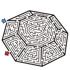Geometric Maze Puzzle Medium Hard - Coloring For Kids 2019 Coloring Sheets For Kids, Coloring Books, Hard Mazes, Learning Numbers Preschool, Mazes For Kids Printable, Maze Worksheet, Labyrinth Maze, Maze Design, Maze Puzzles