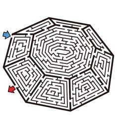 This PDF file includes 10 intermediate mazes in several