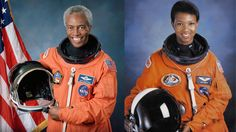 Guion Bluford Jr. was the first black man and Mae Jemison the first black woman to travel in space (in 1983 and 1992, respectively). Bluford is an engineer and was a colonel in the United States Air Force before participating in four space shuttle flights. Jemison, a physician by trade, has received numerous awards and honorary doctorates.