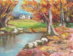 oil pastel paintings | Oil Pastel Painting by Lyn Vic - Oil Pastel Fine Art Prints and ...
