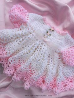 Crochet Baby Dress Baby girl dress, baby clothes, newborn baby dress, crocheted...
