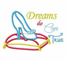 Princess Embroidery Applique Design  Dreams by jayniejayedesigns, $3.75