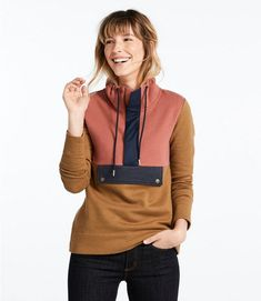 Find the best Signature Organic Sweatshirt, Anorak Colorblock at L. Our high quality Women's Sweaters, Sweatshirts and Fleece are thoughtfully designed and built to last season after season. Comfortable Outfits, Casual Outfits, Outdoor Apparel, Stitch Fix Outfits, Winter Outfits Women, Amazing Women, Color Blocking, Sweaters For Women, Women's Sweaters