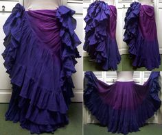 two-tone purples _ I want to dye a skirt like this