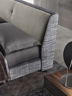 Double bed / contemporary / upholstered / by Rodolfo Dordoni - SPENCER - Minotti