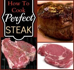 How to cook a perfect steak. Tried this method and thought it came out great, so pinning to remember how!