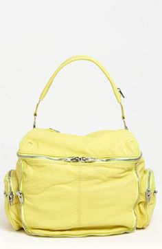 Alexander Wang Yellow Hobo Handbag